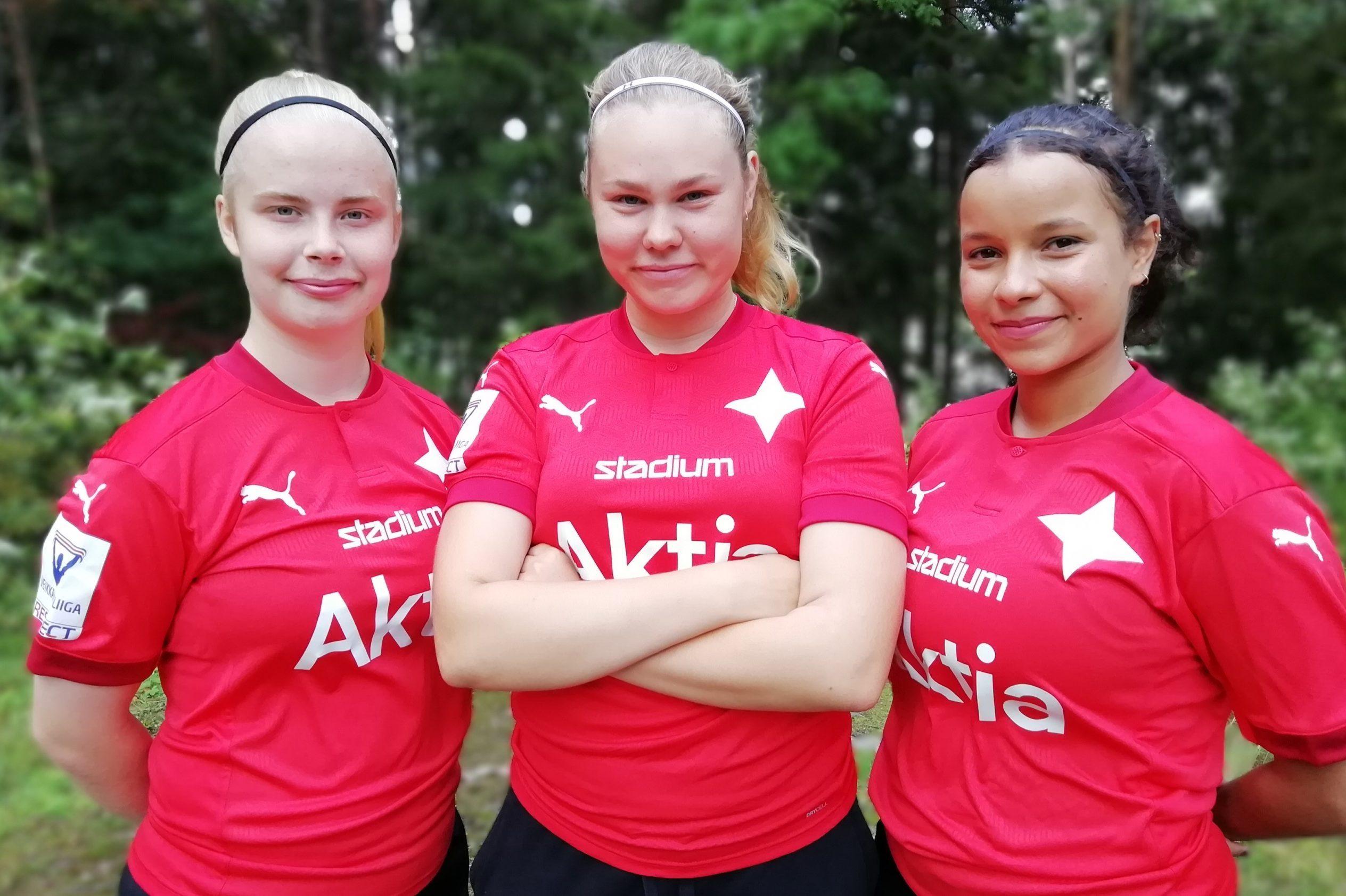 Noora Renström, Saana Fält ja Petra Suutarinen HIFK:hon!
