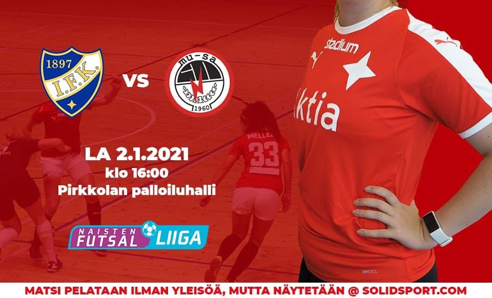 HIFK:n Vuosi käynnistyy kärkiottelulla MuSa Futsalia vastaan