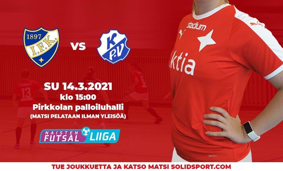 HIFK emännöi KP-V:tä sunnuntaina